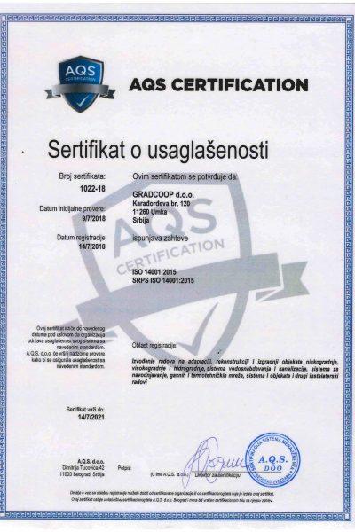 ISO 14001 - Gradcoop