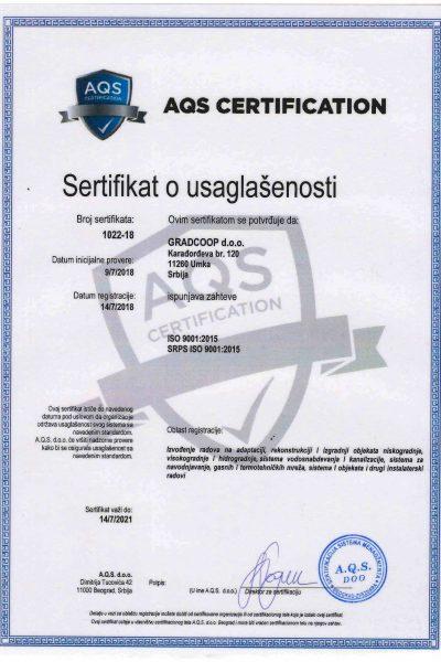 ISO 9001 Gradcoop